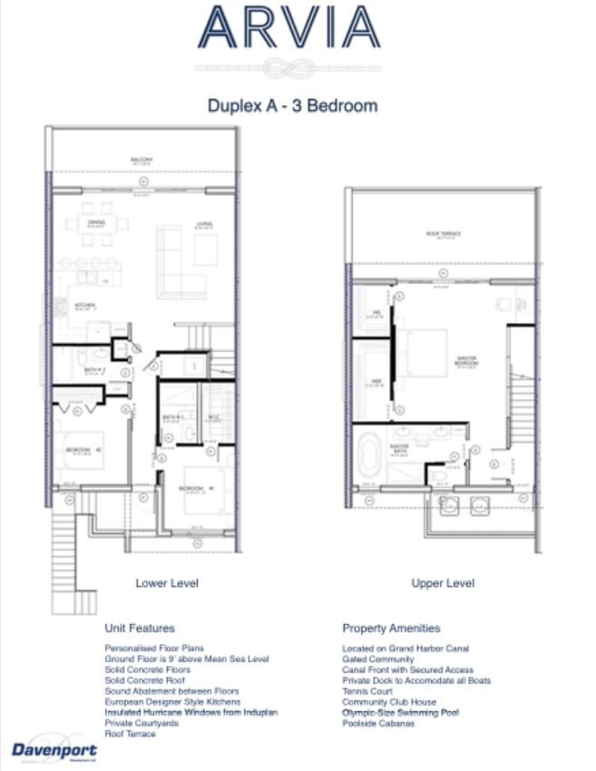ARVIA 3 bedroom Floor Plan