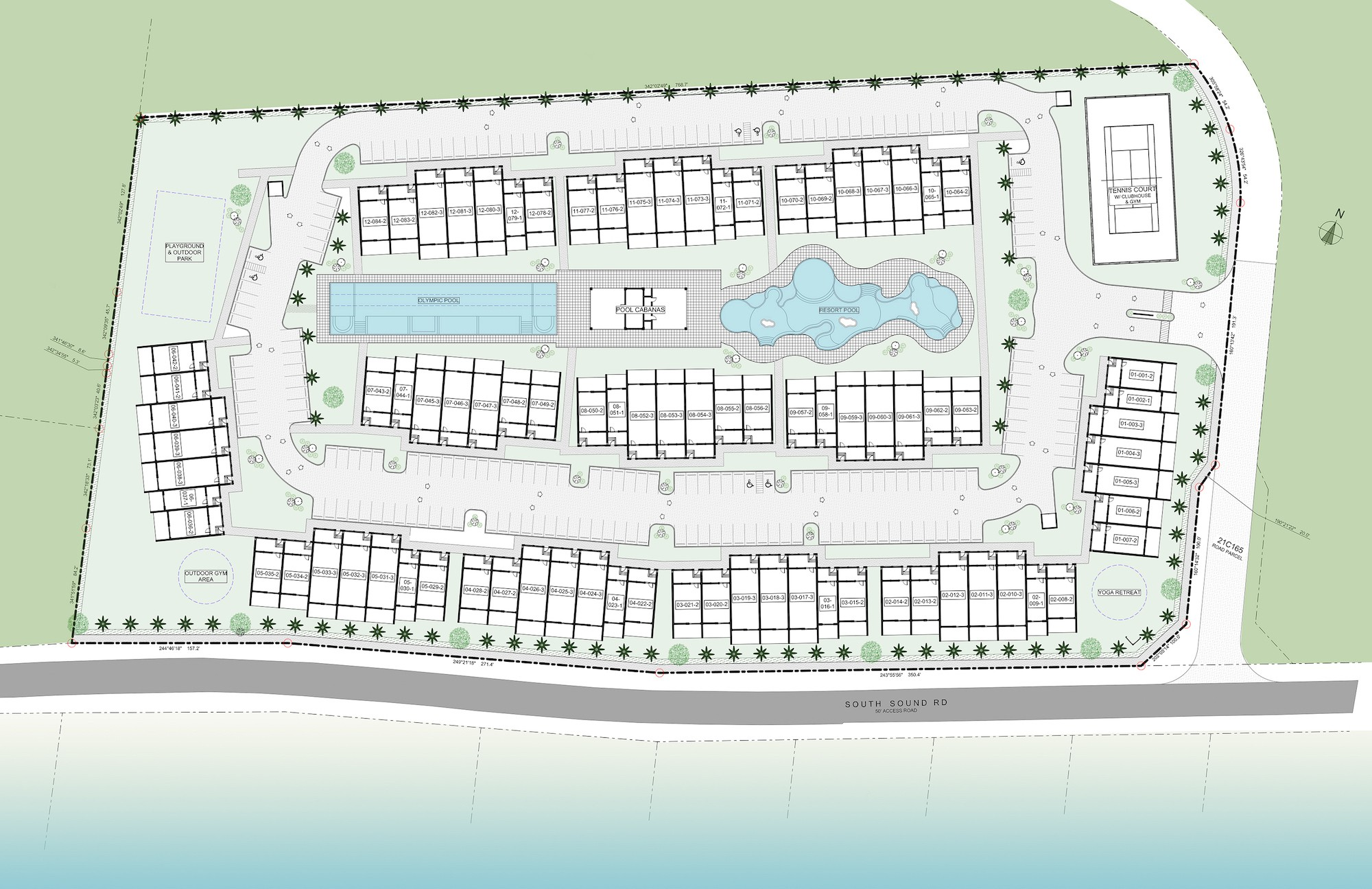 SITE PLAN OF TOWNHOUSE IN BAHIA